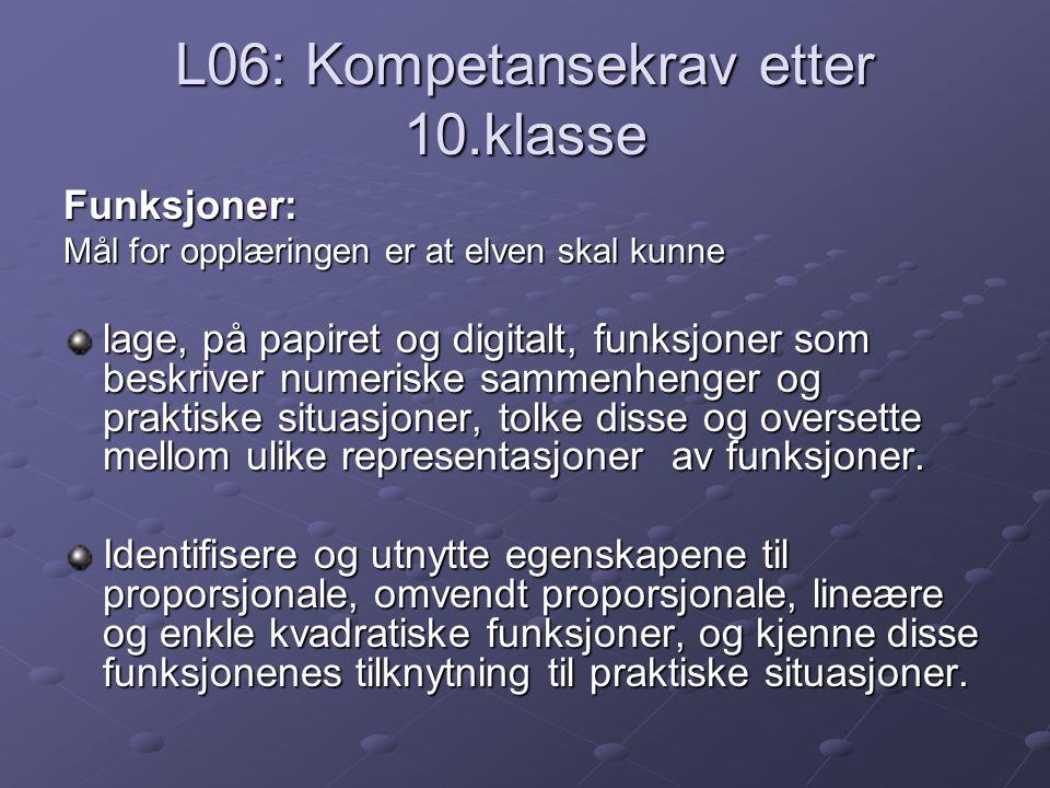 L06: Kompetansekrav etter 10.klasse