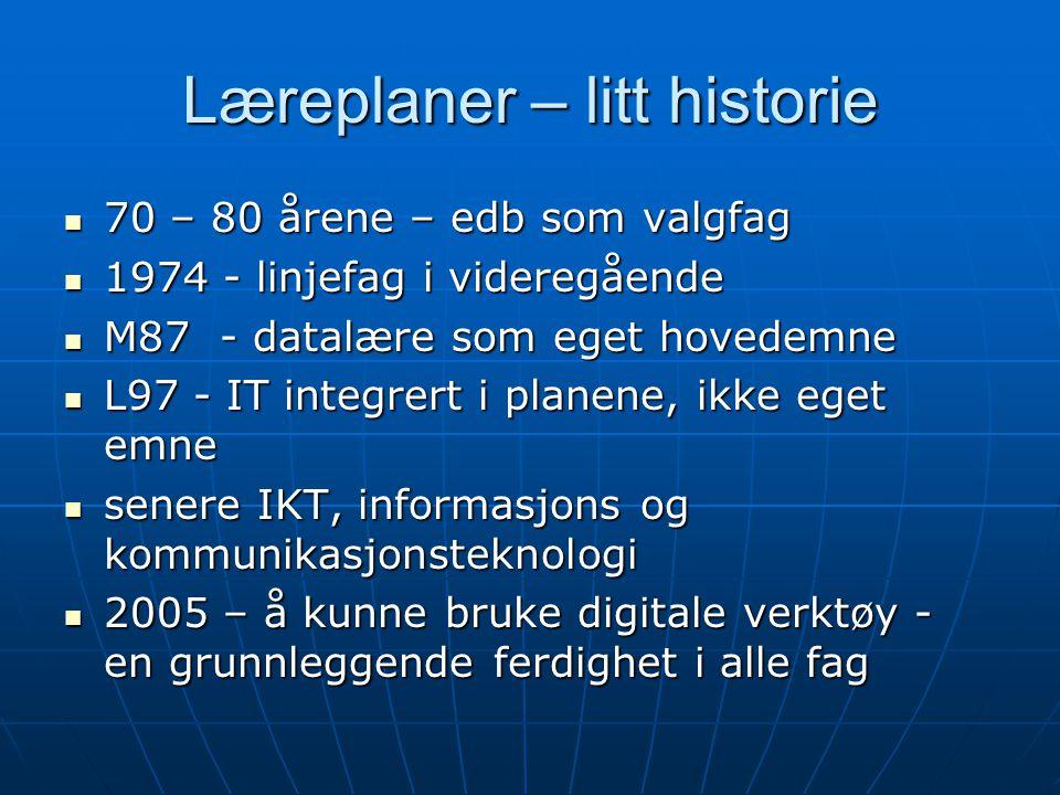 Læreplaner – litt historie