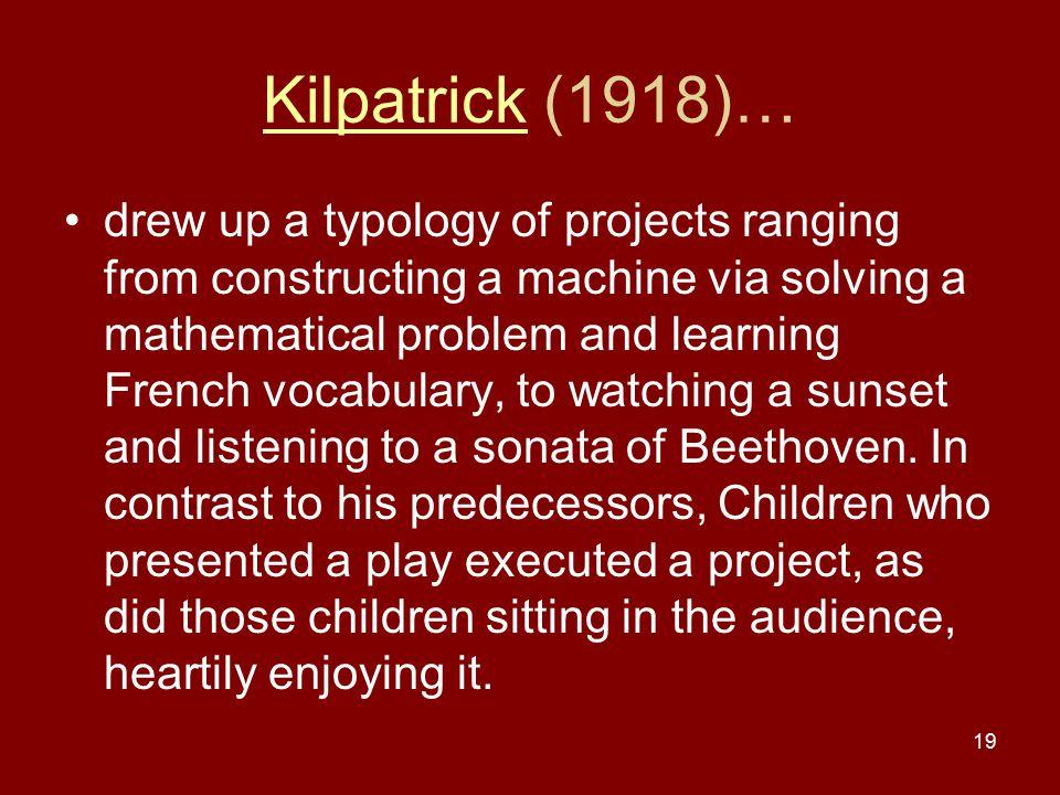 Kilpatrick (1918)…