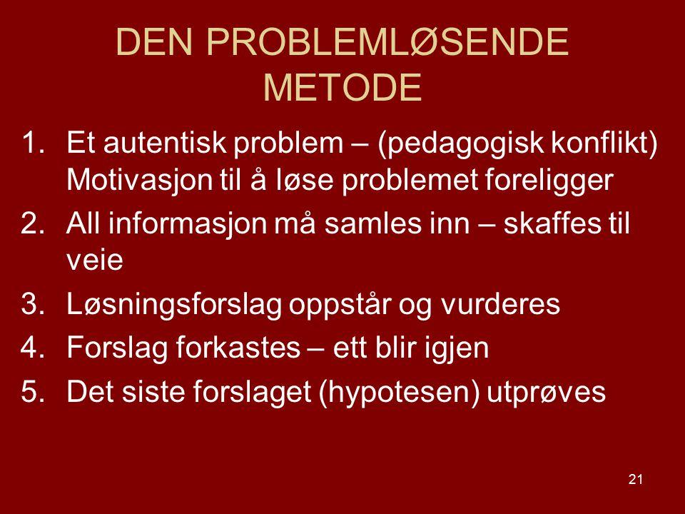 DEN PROBLEMLØSENDE METODE