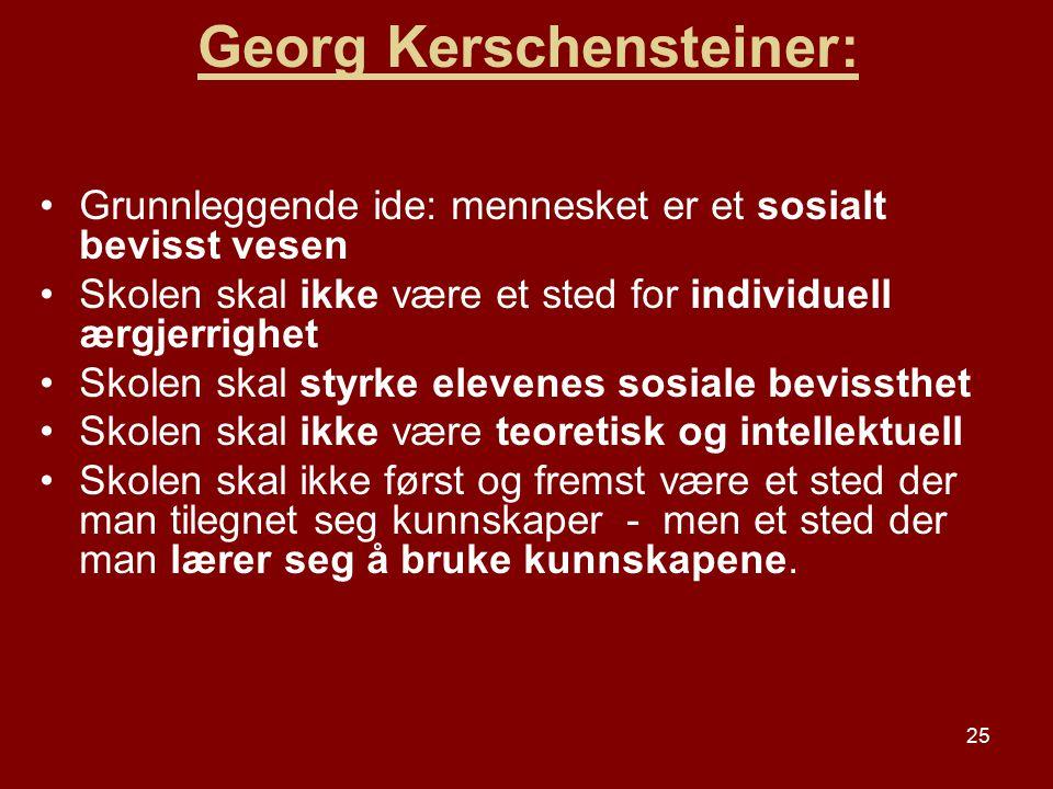Georg Kerschensteiner: