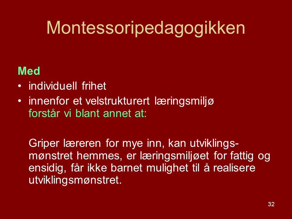 Montessoripedagogikken