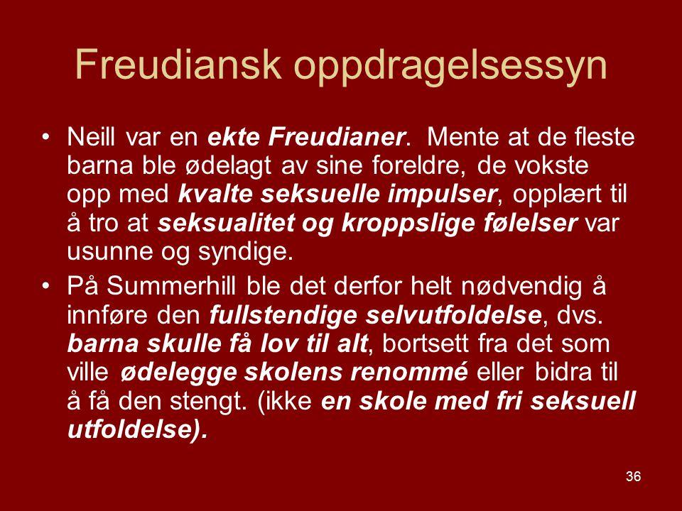 Freudiansk oppdragelsessyn