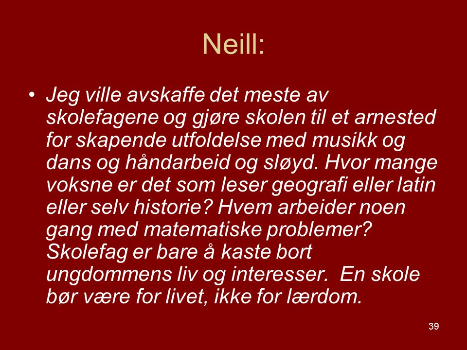 Neill:
