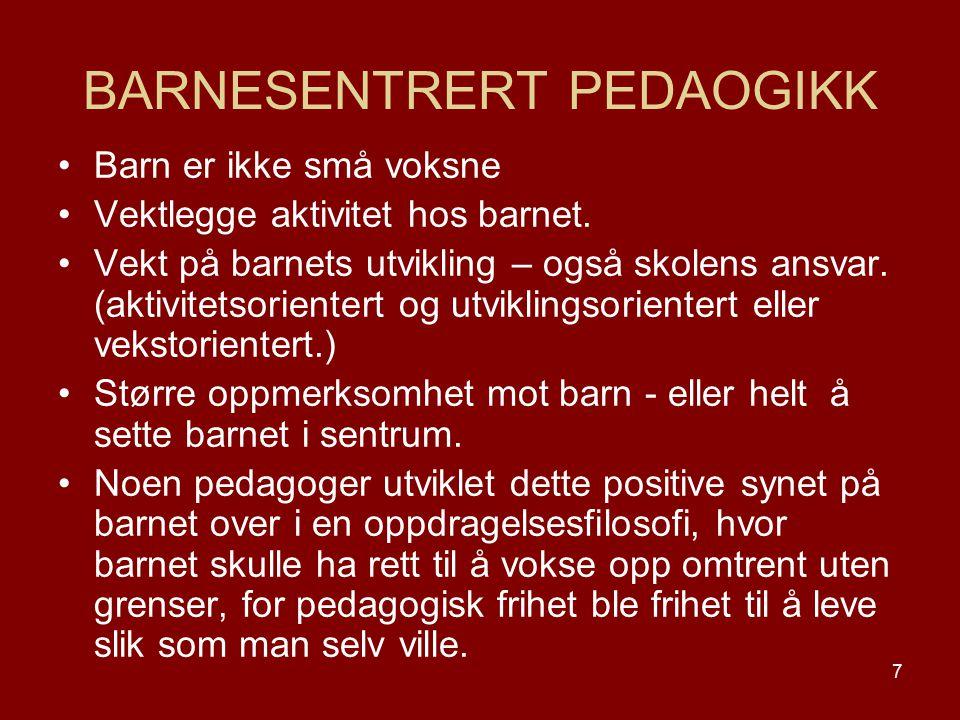 BARNESENTRERT PEDAOGIKK