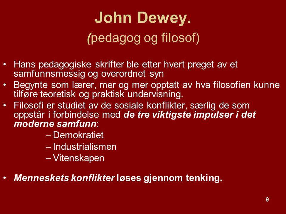 John Dewey. (pedagog og filosof)