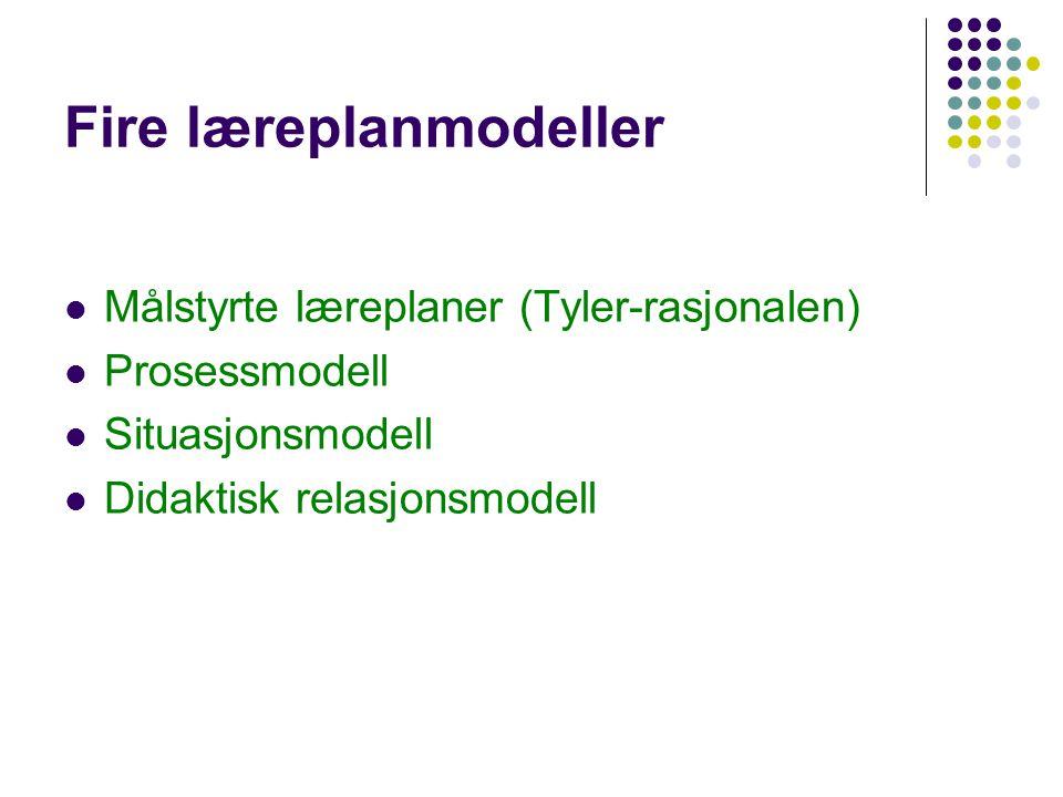 Fire læreplanmodeller