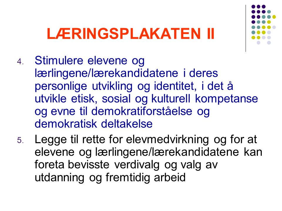 LÆRINGSPLAKATEN II