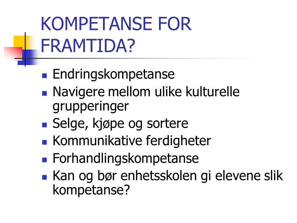 KOMPETANSE FOR FRAMTIDA