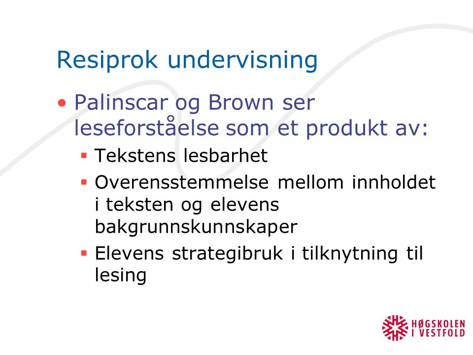 Resiprok undervisning