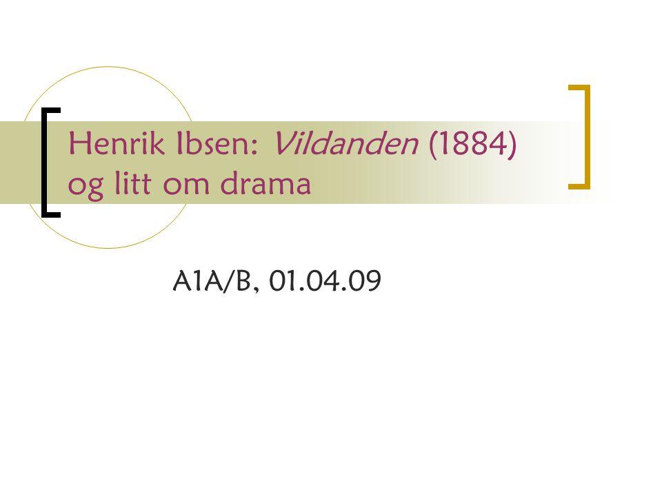 Henrik Ibsen: Vildanden (1884) og litt om drama