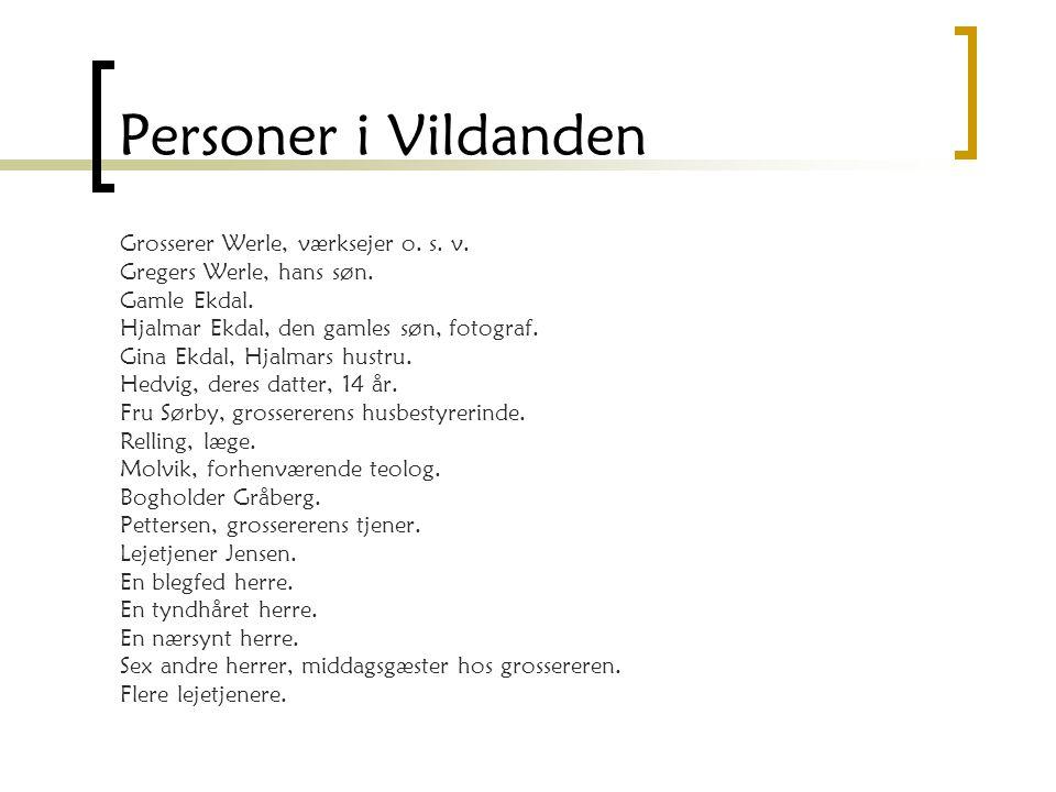 Personer i Vildanden Grosserer Werle, værksejer o. s. v.