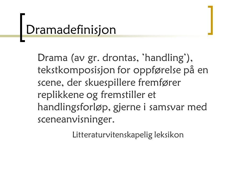 Dramadefinisjon
