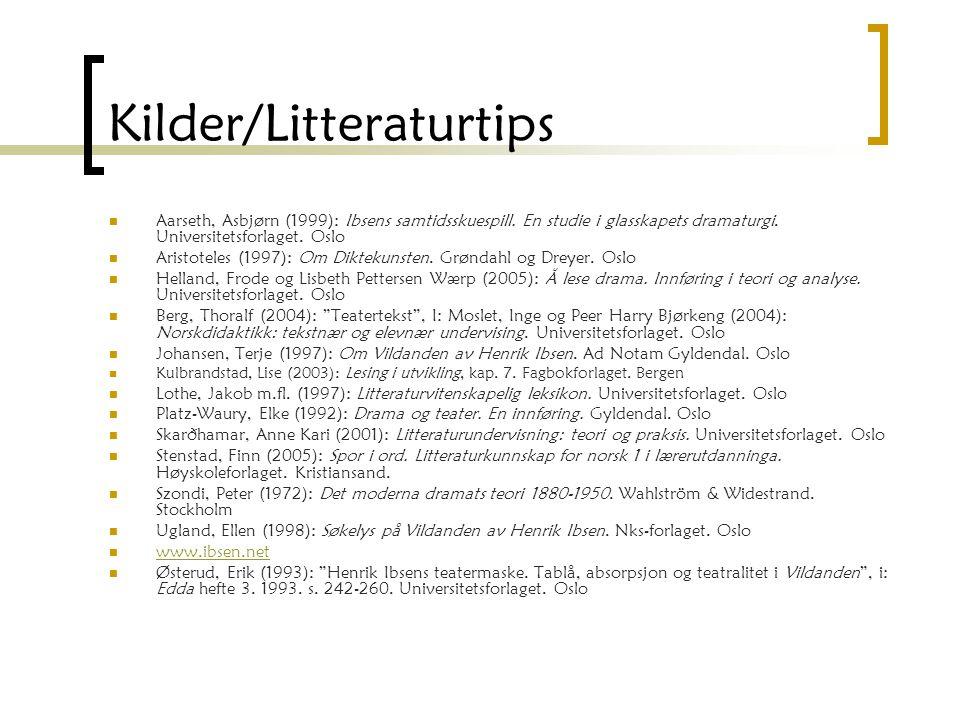 Kilder/Litteraturtips