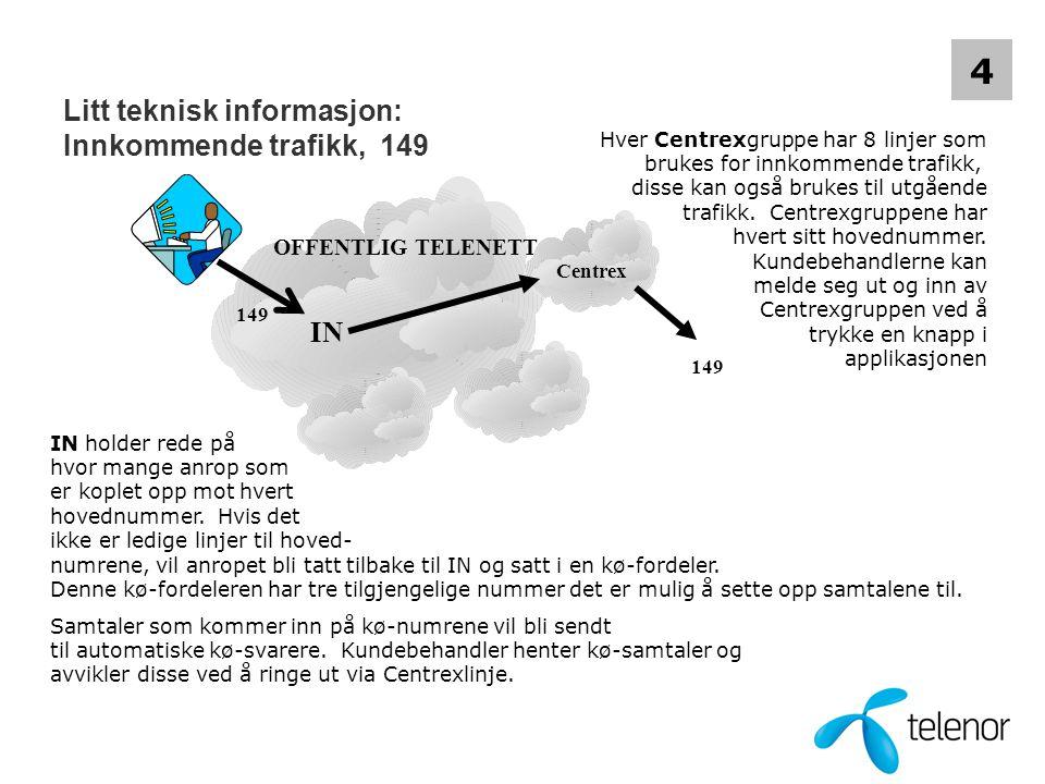Litt teknisk informasjon: Innkommende trafikk, 149
