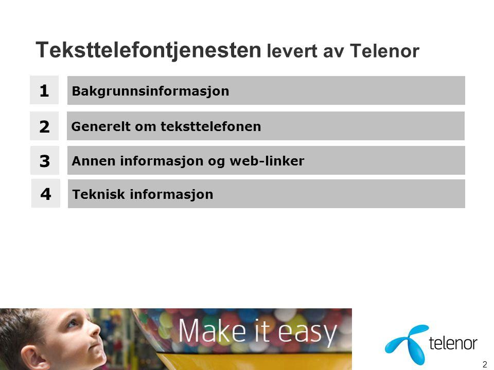 Teksttelefontjenesten levert av Telenor