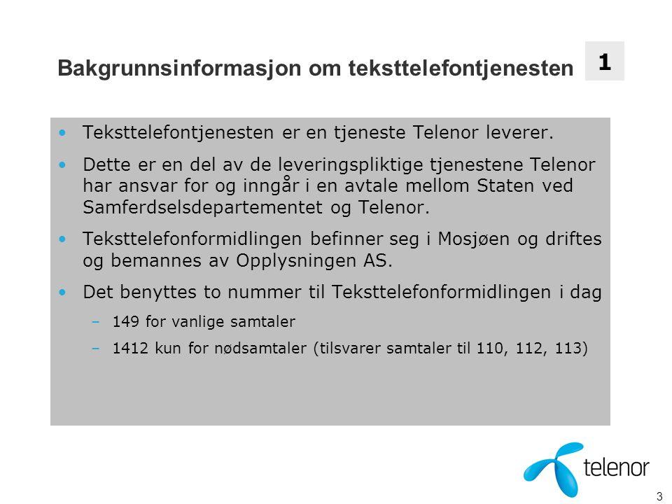 Bakgrunnsinformasjon om teksttelefontjenesten