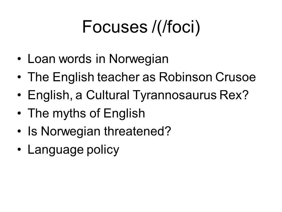 Focuses /(/foci) Loan words in Norwegian