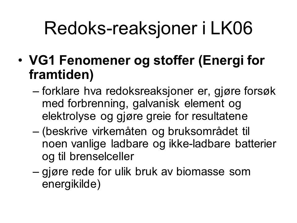 Redoks-reaksjoner i LK06