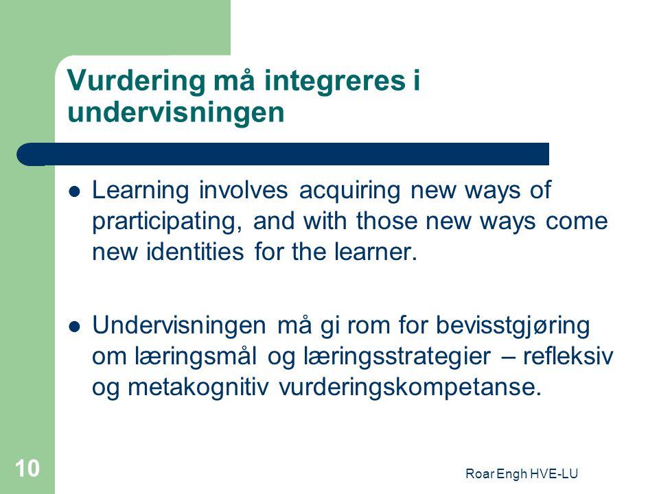 Vurdering må integreres i undervisningen