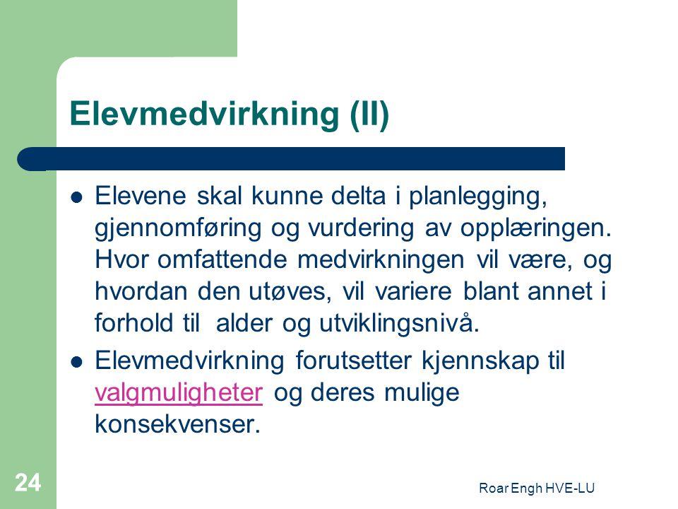 Elevmedvirkning (II)