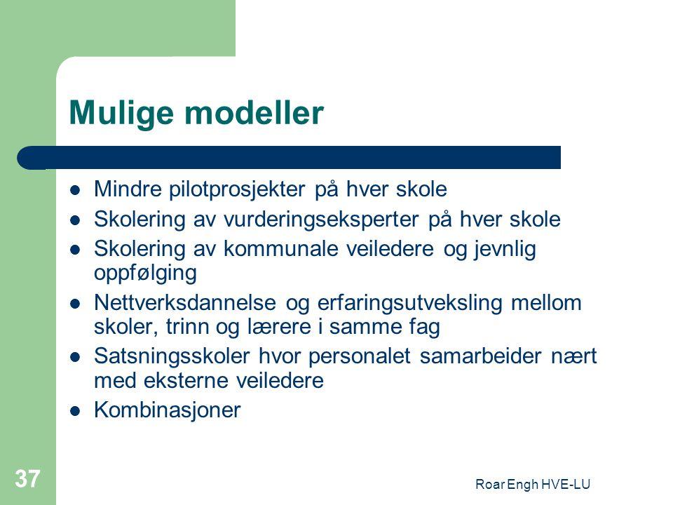 Mulige modeller Mindre pilotprosjekter på hver skole