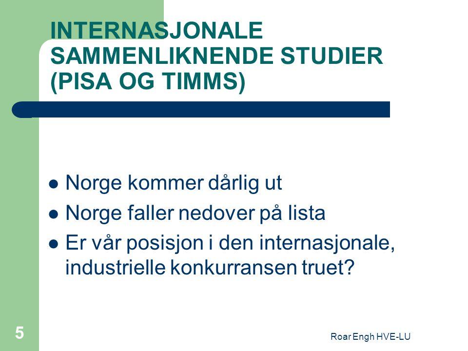 INTERNASJONALE SAMMENLIKNENDE STUDIER (PISA OG TIMMS)