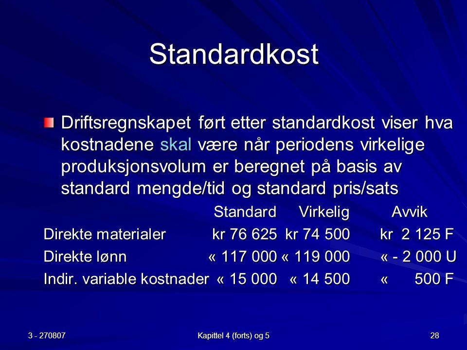 Standardkost