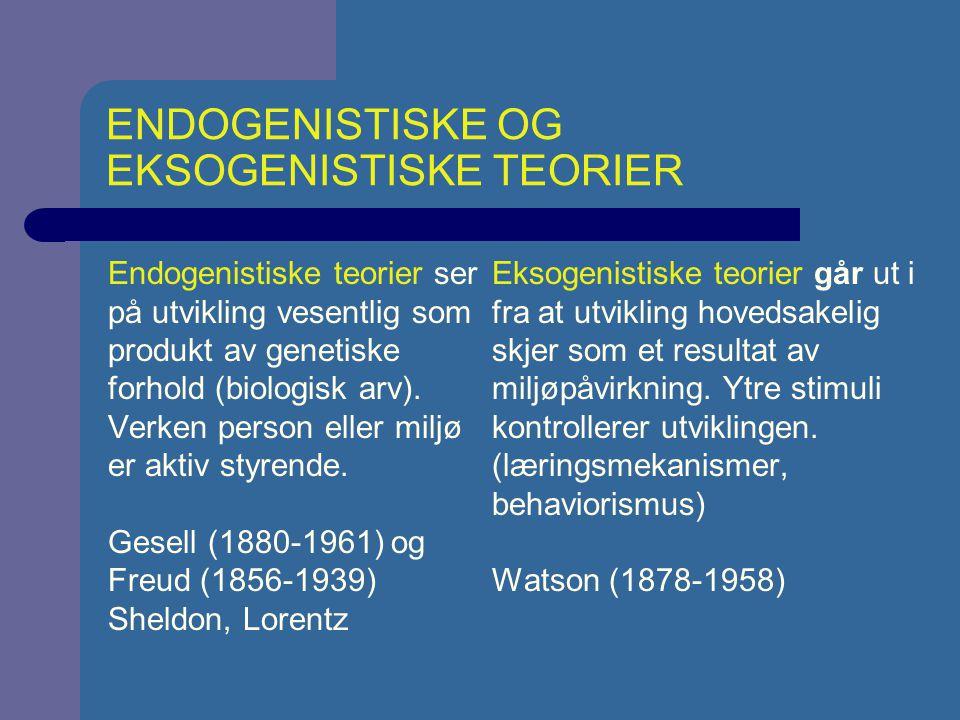 ENDOGENISTISKE OG EKSOGENISTISKE TEORIER