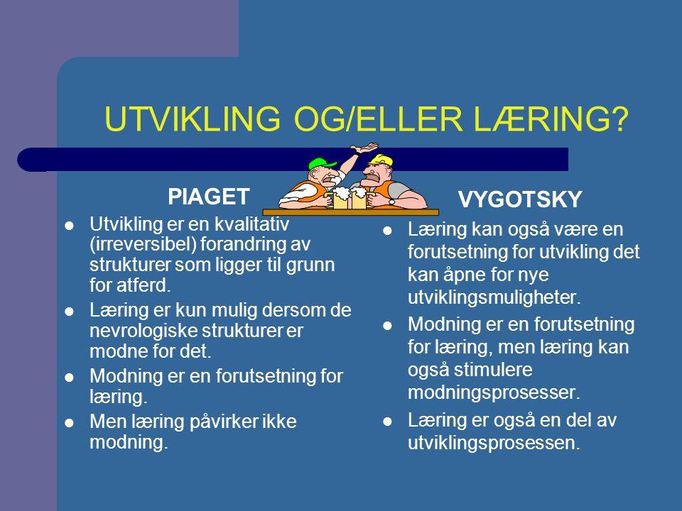 UTVIKLING OG/ELLER LÆRING