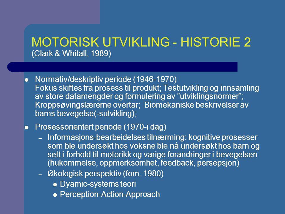 MOTORISK UTVIKLING - HISTORIE 2 (Clark & Whitall, 1989)