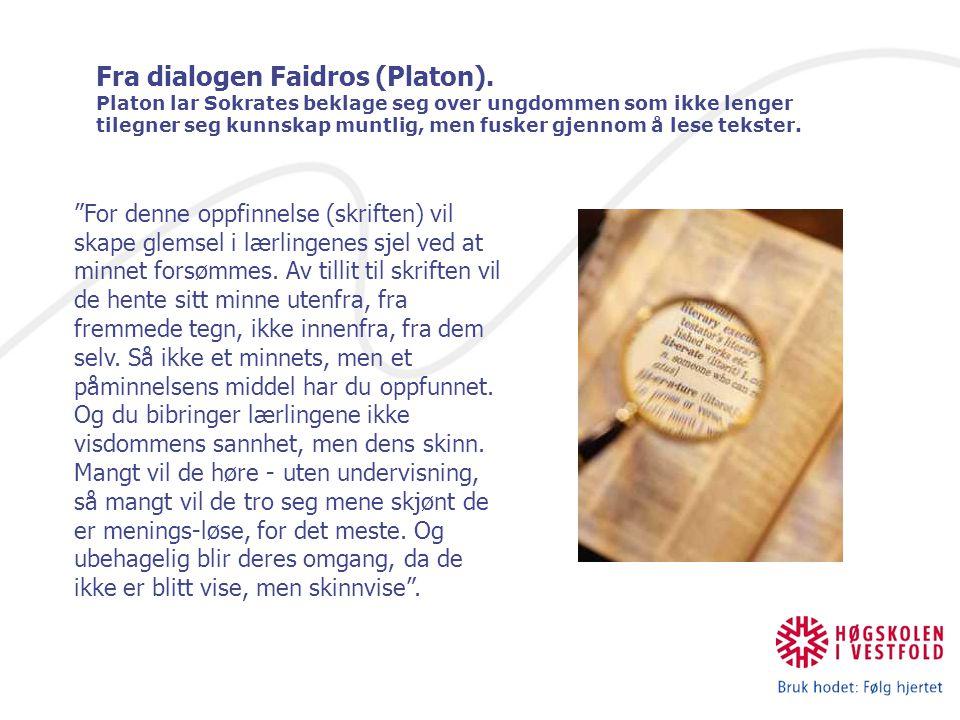 Fra dialogen Faidros (Platon)