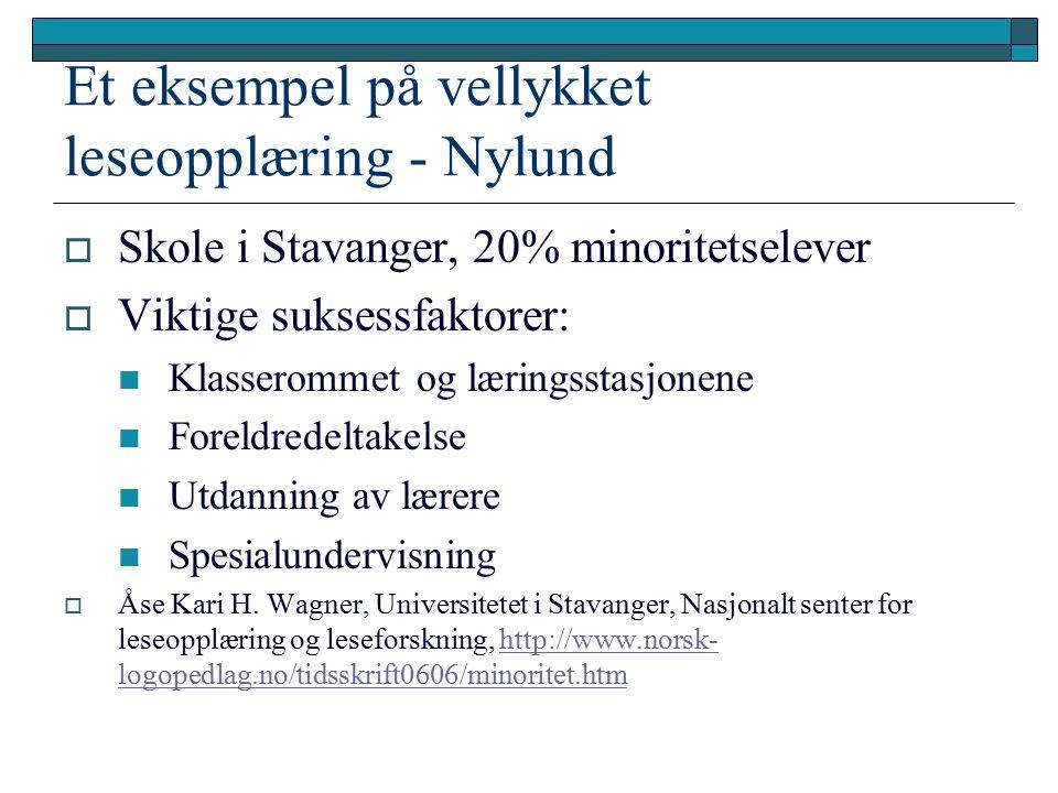 Et eksempel på vellykket leseopplæring - Nylund