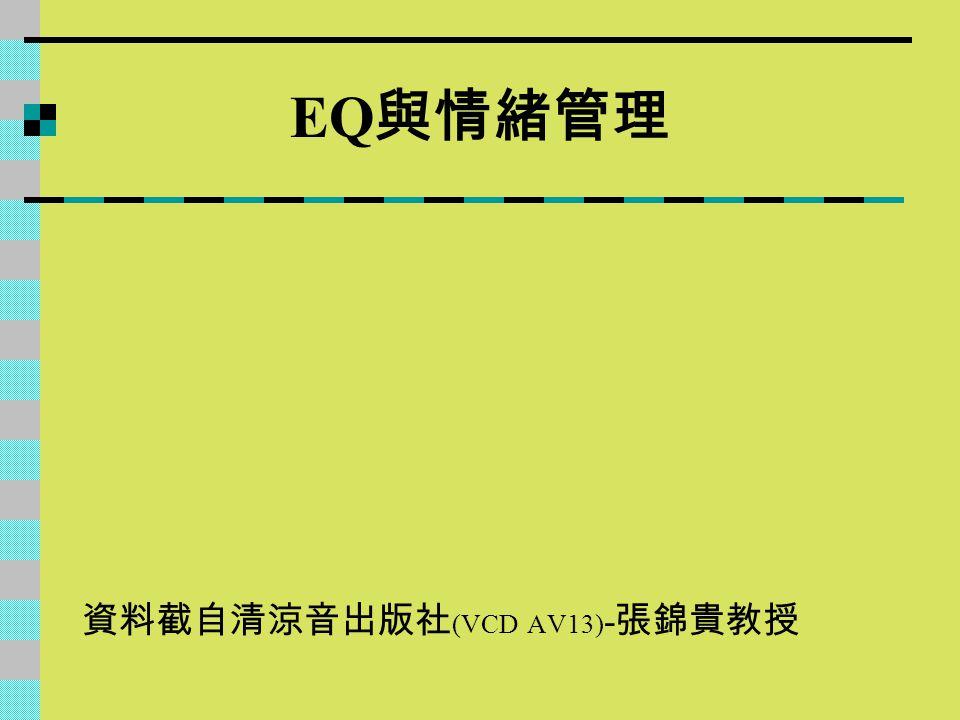 EQ與情緒管理 資料截自清涼音出版社(VCD AV13)-張錦貴教授