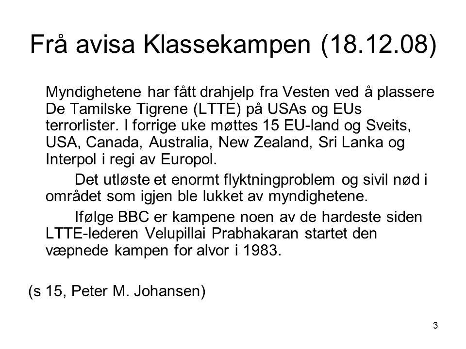 Frå avisa Klassekampen (18.12.08)