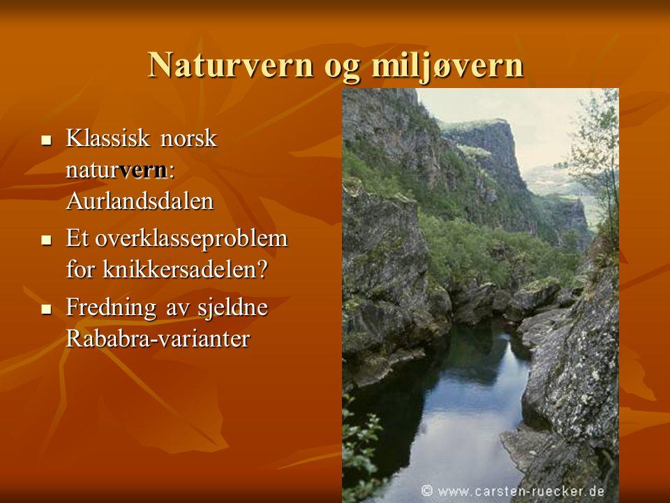 Naturvern og miljøvern