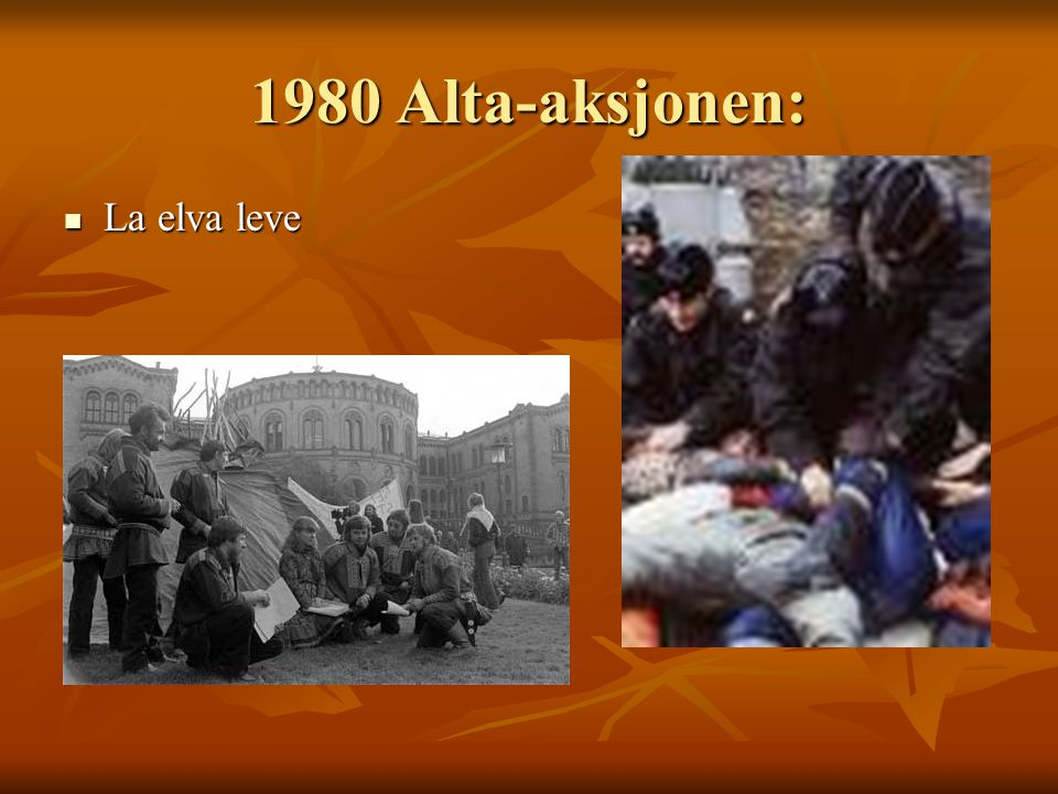 1980 Alta-aksjonen: La elva leve