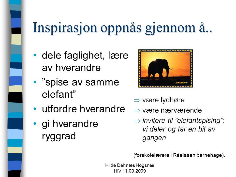 Inspirasjon oppnås gjennom å..