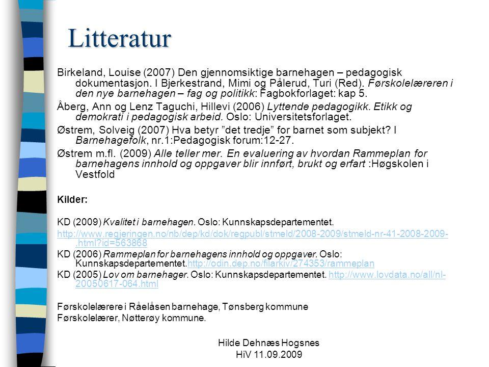 Hilde Dehnæs Hogsnes HiV 11.09.2009