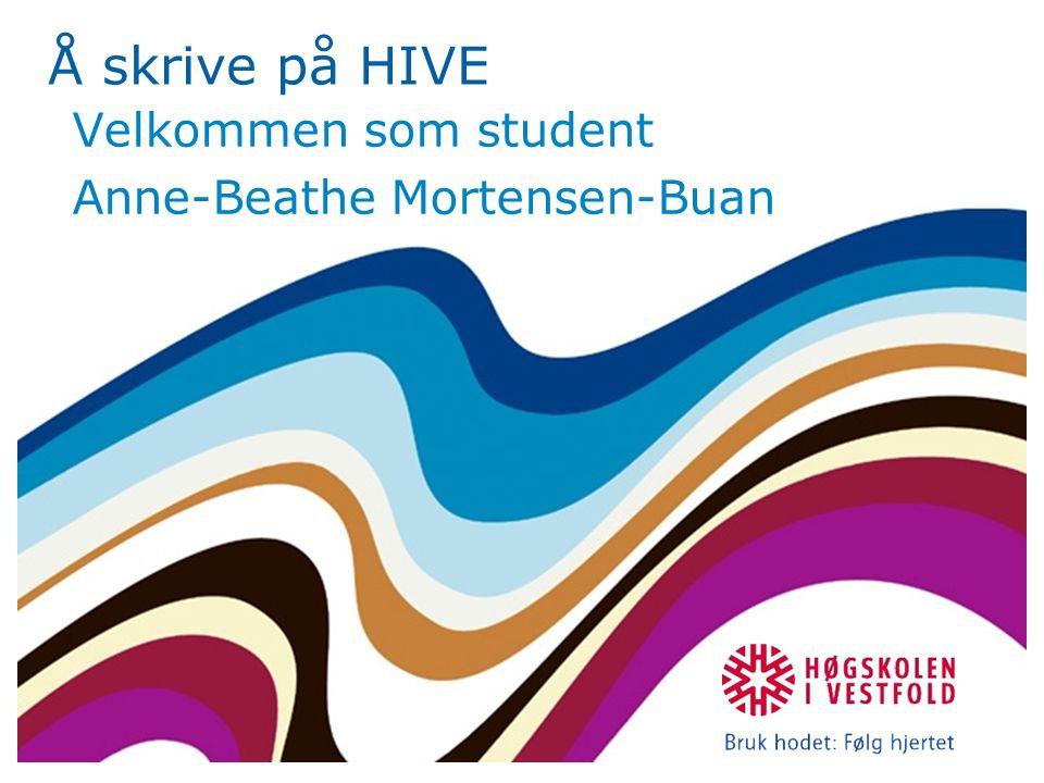 Velkommen som student Anne-Beathe Mortensen-Buan