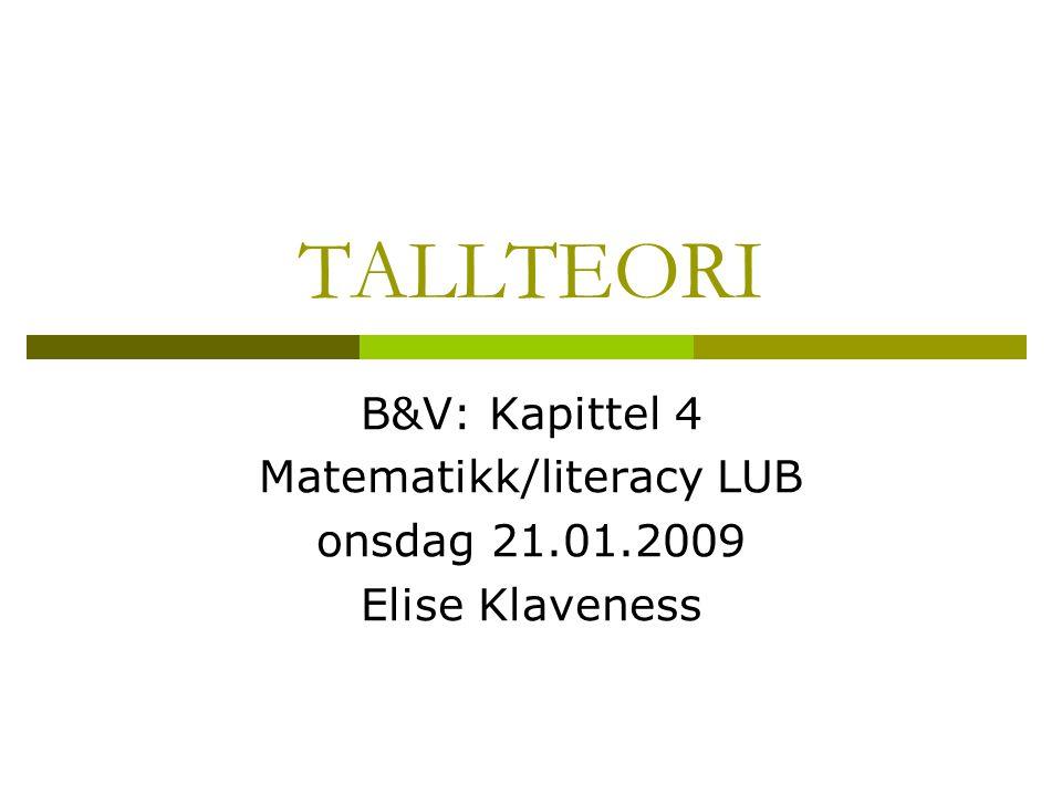 Matematikk/literacy LUB