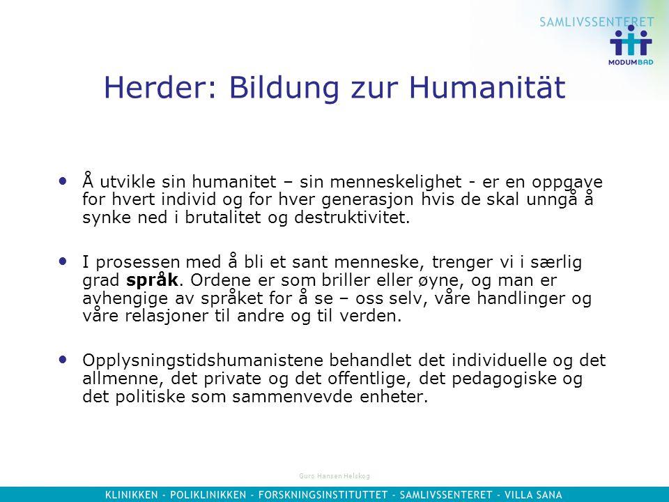 Herder: Bildung zur Humanität