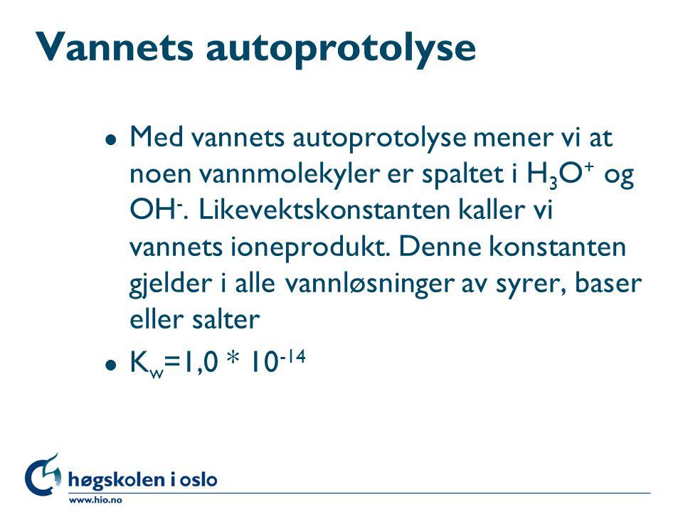 Vannets autoprotolyse