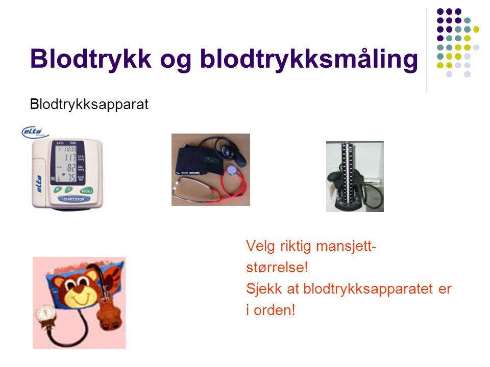 Blodtrykk og blodtrykksmåling