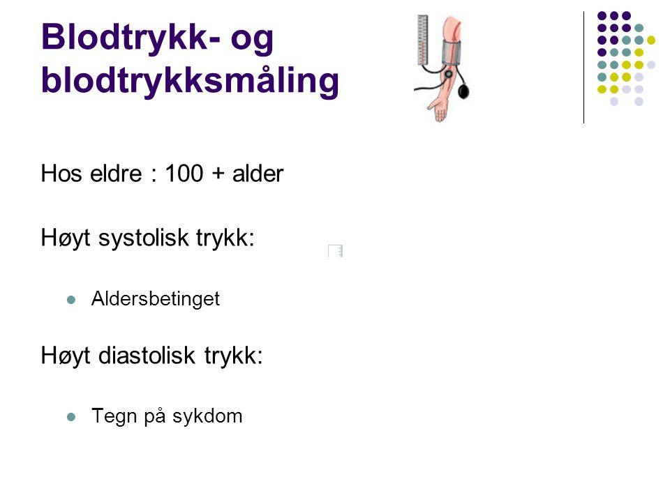 Blodtrykk- og blodtrykksmåling