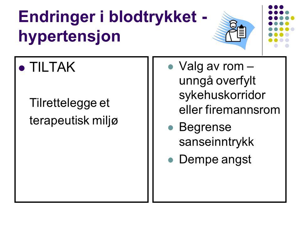 Endringer i blodtrykket - hypertensjon