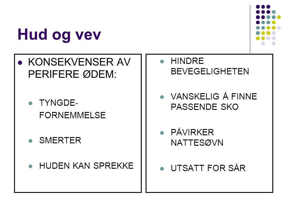 Hud og vev KONSEKVENSER AV PERIFERE ØDEM: HINDRE BEVEGELIGHETEN