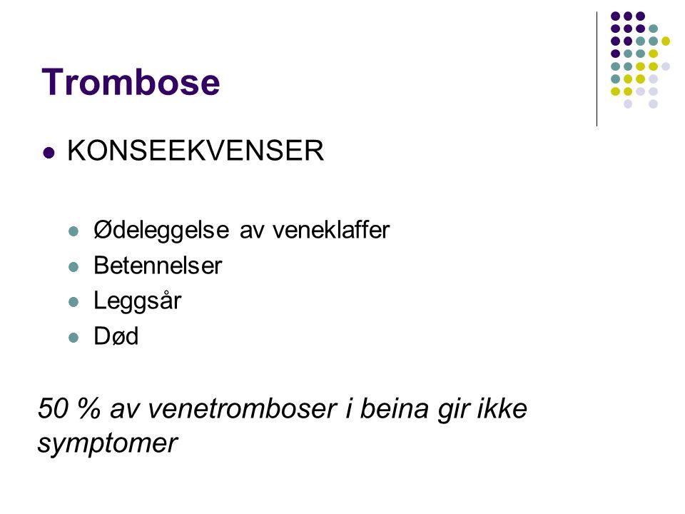 Trombose KONSEEKVENSER
