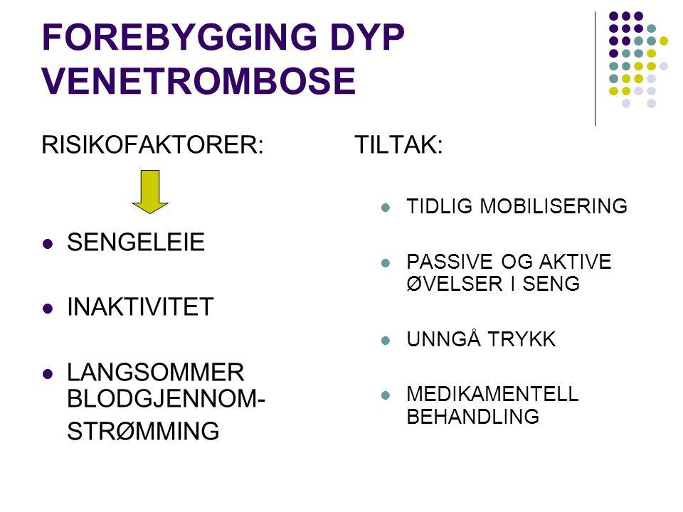 FOREBYGGING DYP VENETROMBOSE
