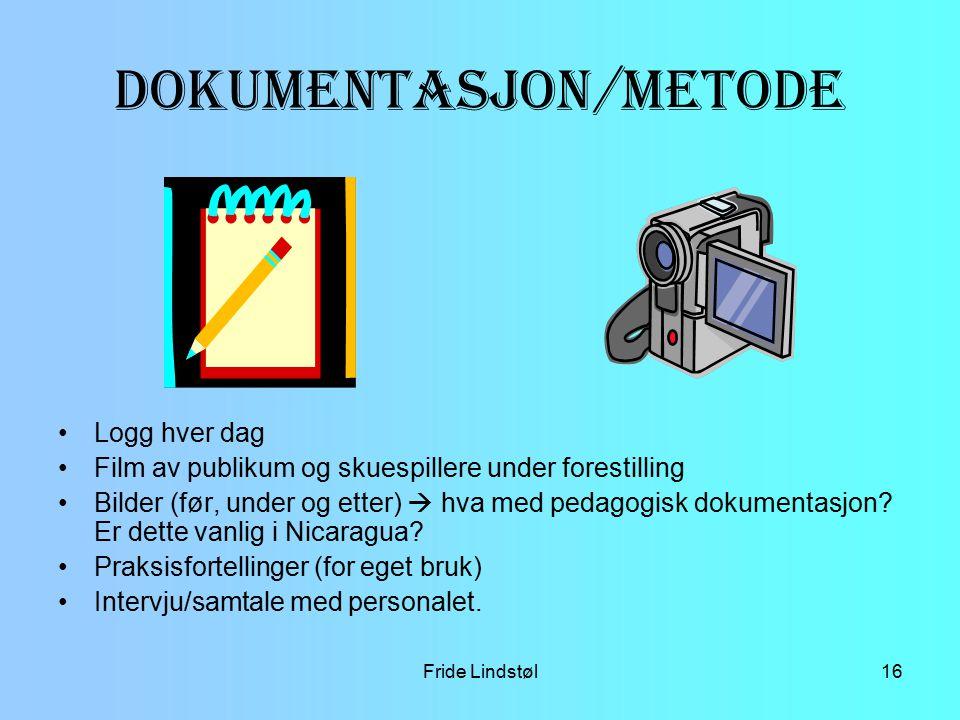 Dokumentasjon /metode